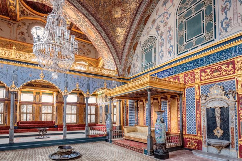 Interno del Topkapi di Istanbul
