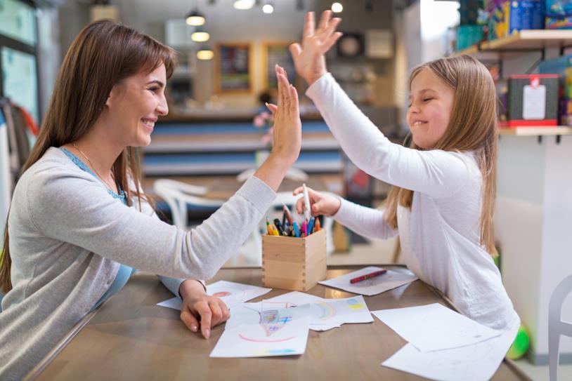Felicità dopo compiti