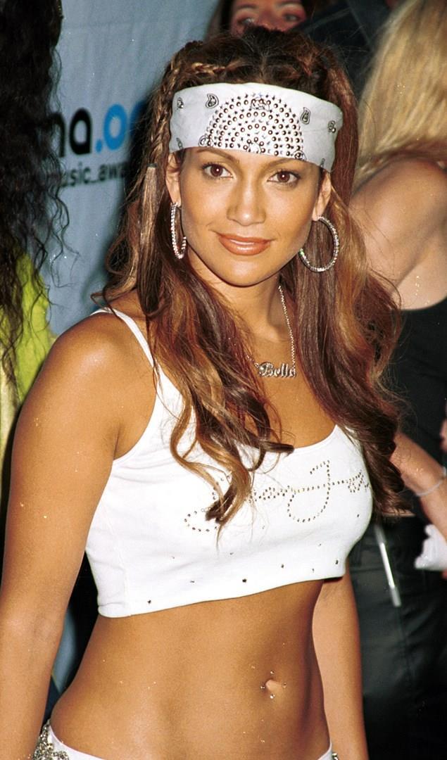 La star Jennifer Lopez agli inizi della sua carriera