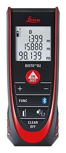 Leica Geosystems DISTO D2 Distanziometro laser, fino a 100 m, 7 misurazioni