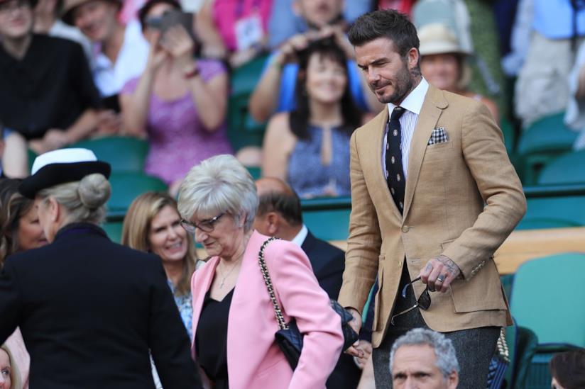 David Beckham a Wimbledon