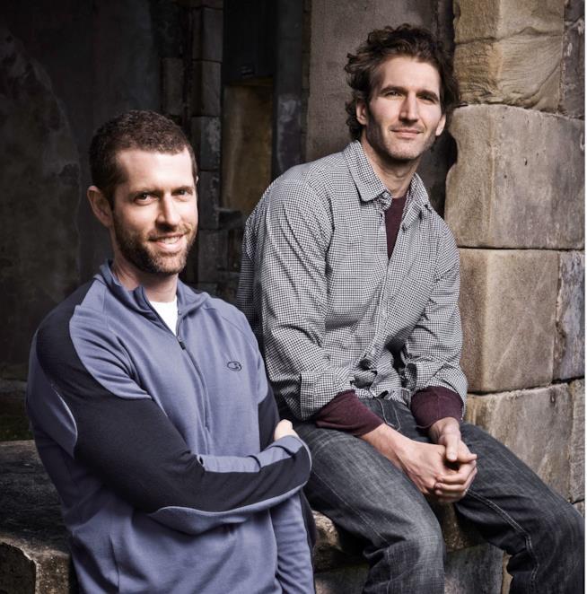 Gli autori Benioff e Weiss sul set di Game of Thrones