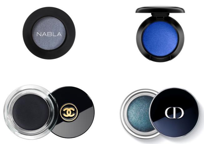 Ombretti per smokey eyes Nabla, Mac, Chamel, Dior