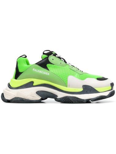 Sneakers Triple S verde lime