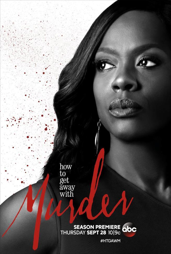 Viola Davis nel poster di Le regole del delitto perfetto