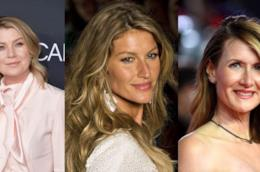 Tre foto di Ellen Pompeo, Gisele Bundchen e Laura Dern