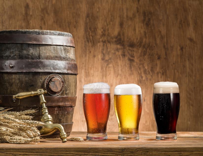 Tre varietà di birra