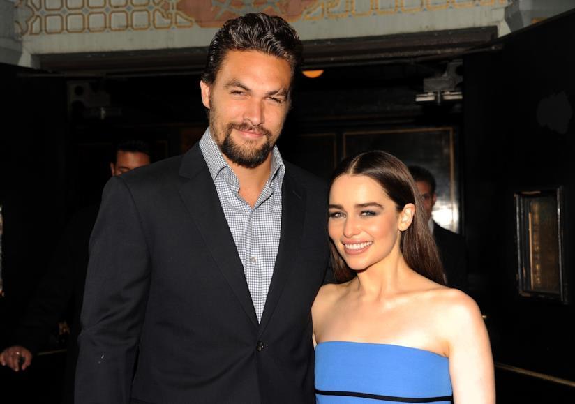 Jason Momoa ed Emilia Clarke a un evento