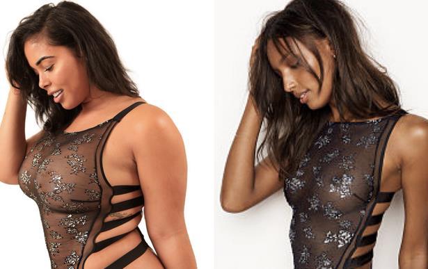 Collage tra Tabria Majors e Victoria's Secret