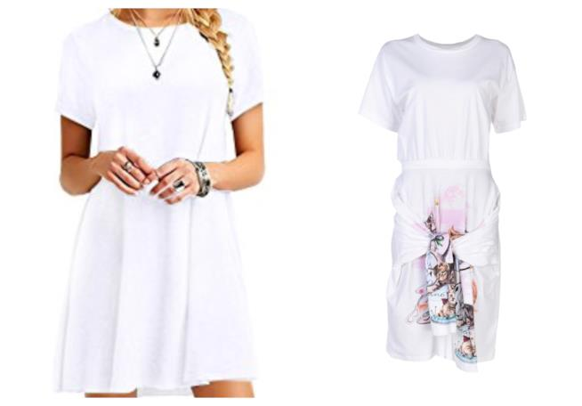 Abiti t-shirt bianco di tendenza per l'estate 2018