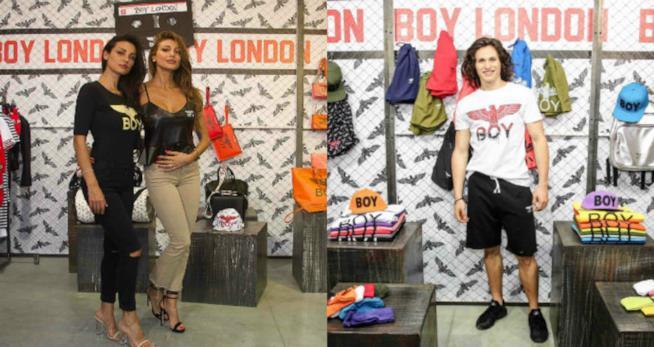 Cristina e Maria Teresa Buccino allo stand Boy London a Pitti Uomo come Sebastian Melo