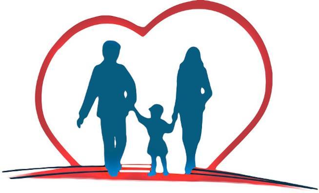 Famiglia dentro ad un cuore
