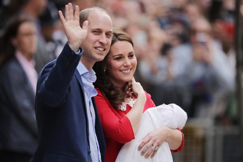 William e Kate con Louis