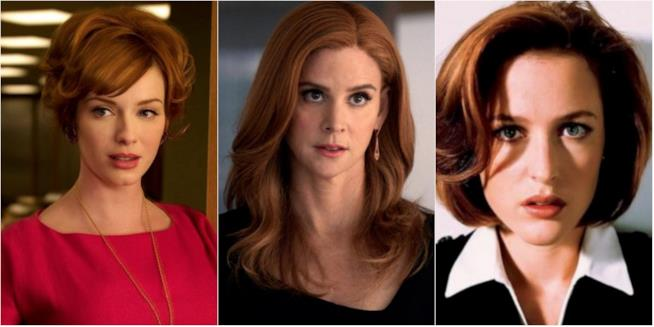 Collage tra Joan Holloway, Donna Paulson e Dana Scully