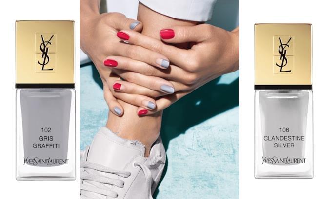 i due toni di grigio Laque Couture edizione limitata summer collection 2018 di Yves Saint Laurent