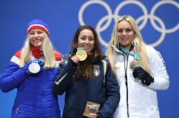 Sofia Goggia, Ragnhild Mowinckel e Lindsey Vonn a PyeongChang sul podio