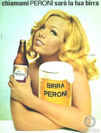 Solvi Stubing, pubblicità birra Peroni