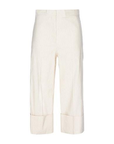 Pantaloni capri avorio