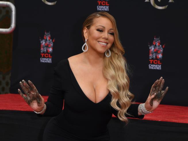 La pop star Mariah Carey