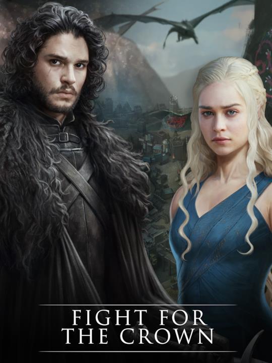 Jon e Daenerys nel gioco mobile di GoT