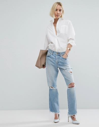 Maxi jeans con strappi