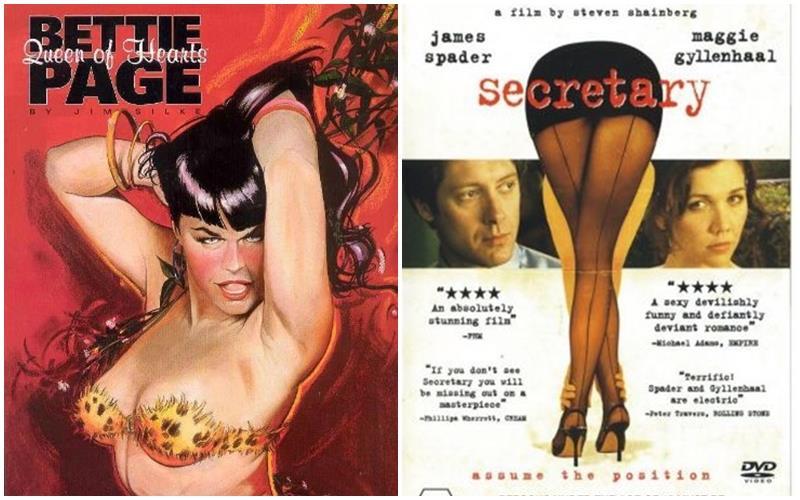 la storia di Bettie Page e il film Secretary un amore BDSM