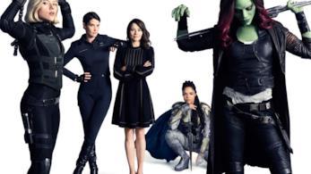 Il gruppo di eroine protagonista di uno scatto su Vanity Fair