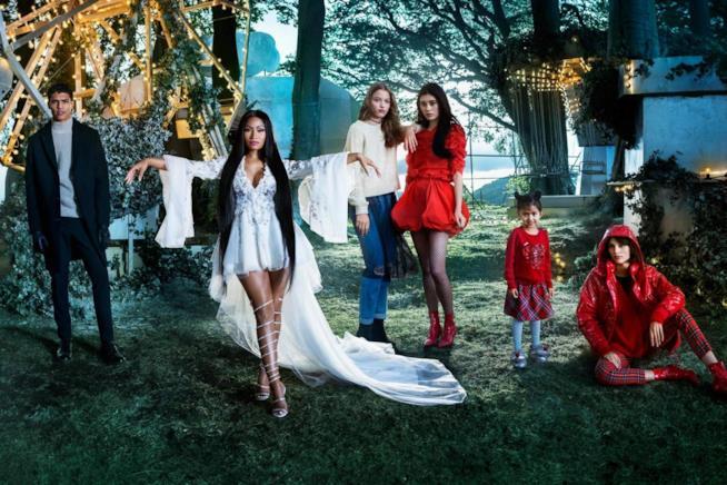 Il cast del corto natalizio di H&M