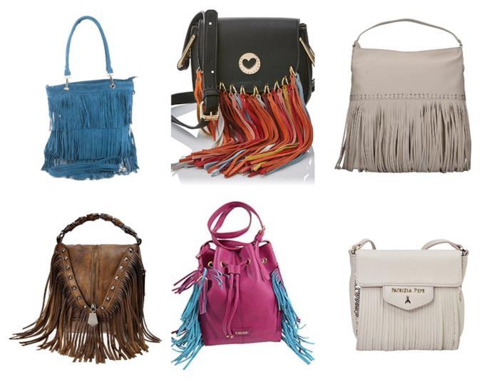 Le borse colorate con le frange moda estate 2018