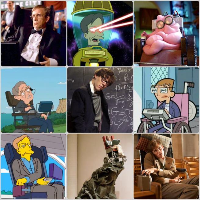 Stephen Hawking nei film e nelle serie