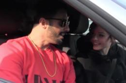 Fabrizio Corona in auto con la fidanzata Silvia de Le Donatella