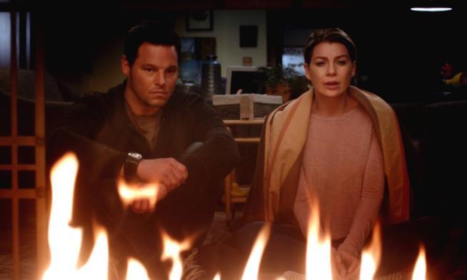 Alex e Meredith in una scena di Grey's Anatomy 12