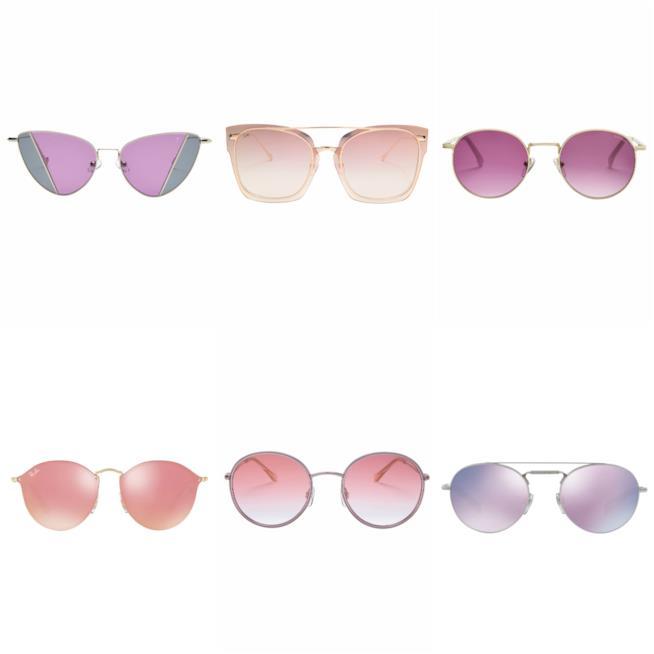 Occhiali da sole di moda estate 2018, Ultra Violet e rosa