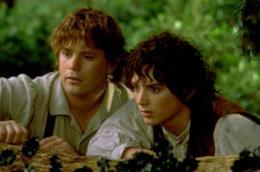 Frodo e Sam spiano nella foresta