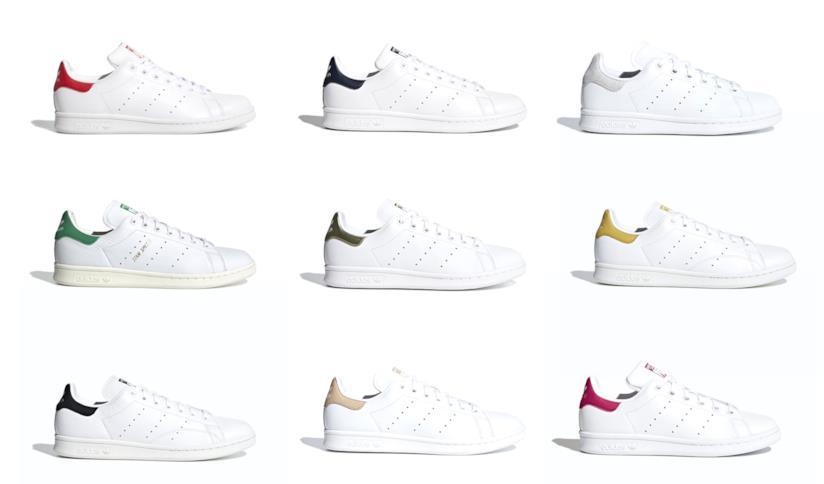 Adidas Stan Smith bianche con pannello colorato: 9 colori