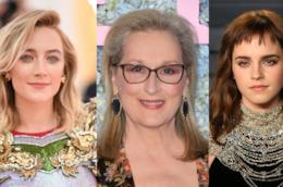 Le attrici di piccole donne Saoirse Ronan, Meryl Streep e Emma Watson