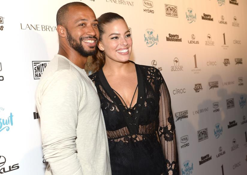 Ashley Graham e il marito Justin Ervin