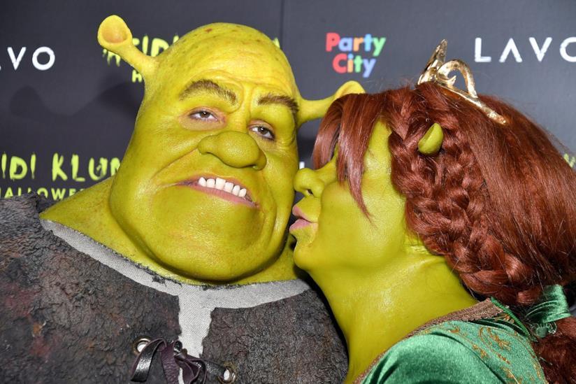 Heidi Klum e Tom Kaulitz come Shrek e Fiona