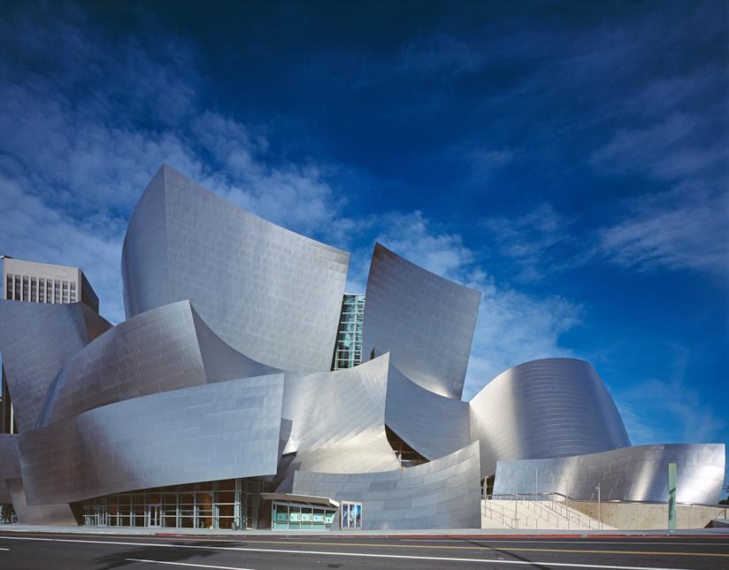 La visionaria sala concerti Walt Disney Concert Hall di L.A.