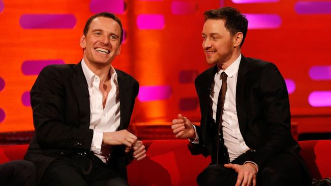 Michael Fassbender e James McAvoy al Graham Norton Show