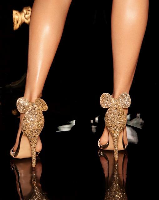 Sandali Minnie dorati