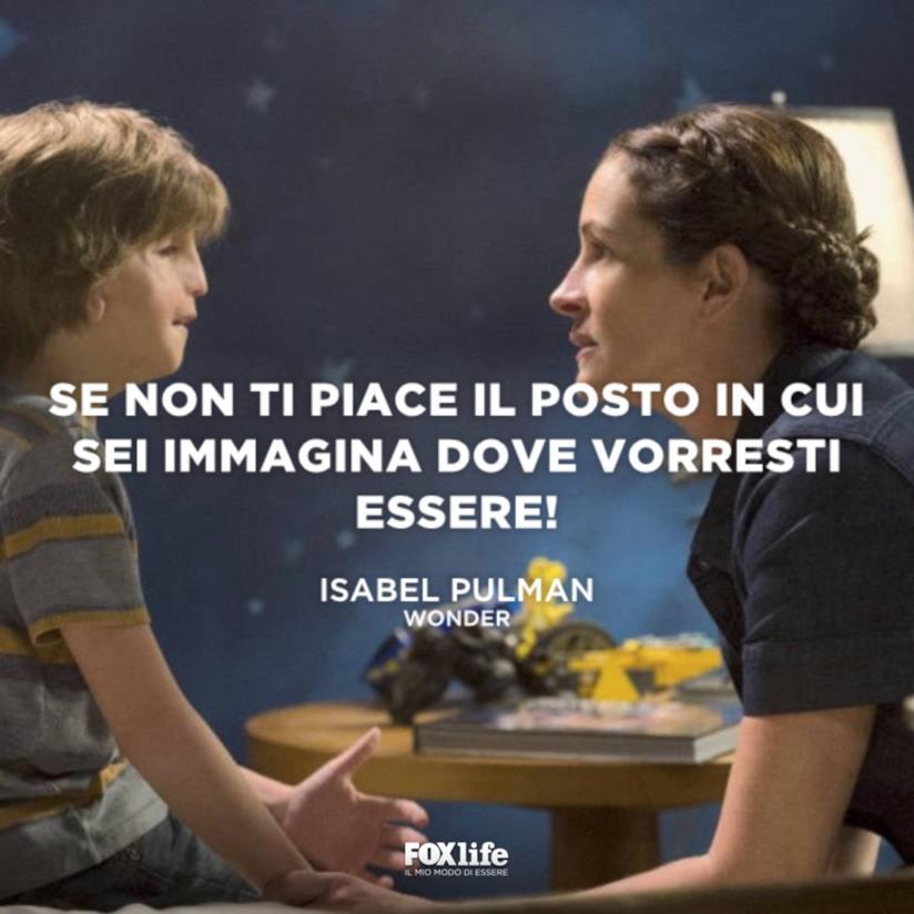 Julia Roberts e il figlio in Wonder