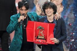 I vincitori di Sanremo 2018 Ermal Meta e Fabrizio Moro