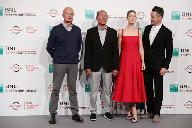 Rosamund Pike e i colleghi di Hostiles alla Festa del Cinema di Roma