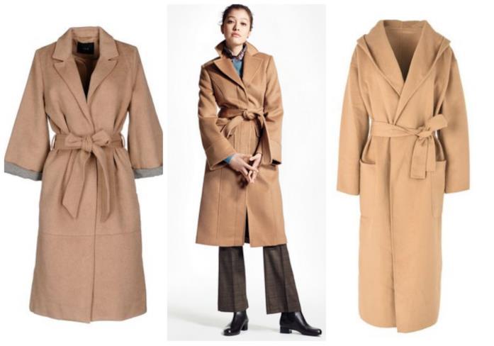 Modelli di Cappotto cammello con cintura