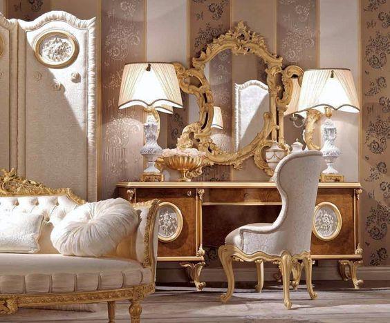 Soggiorno in stile classico lussuoso
