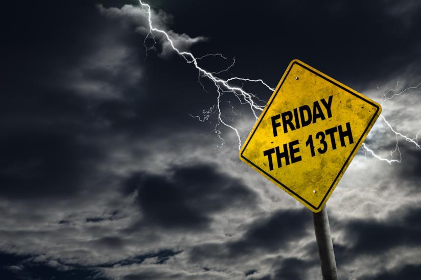 Cartello con la scritta Friday the 13th