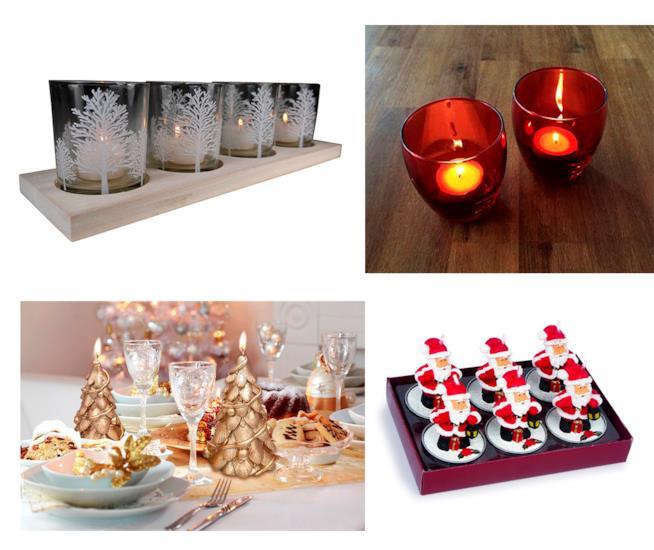 Una selezione di candele natalizie