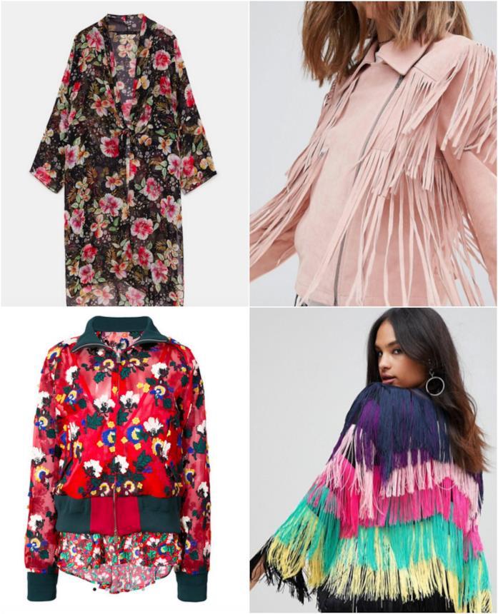 Collage di giacche boho
