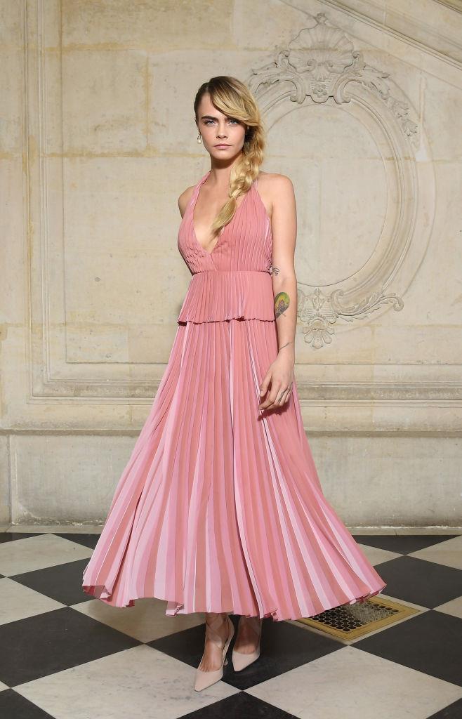 La it-girl Cara Delevingne in front row da Dior
